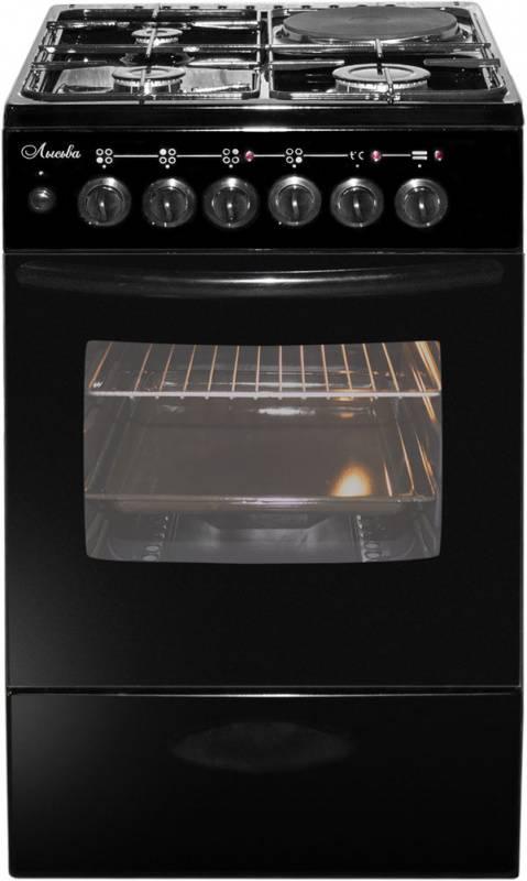 Плита комбинированная Лысьва ЭГ 1/3г14 М2С-2у черный, без крышки - фото 1