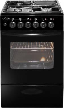Плита комбинированная Лысьва ЭГ 1/3г14 М2С-2у черный, без крышки