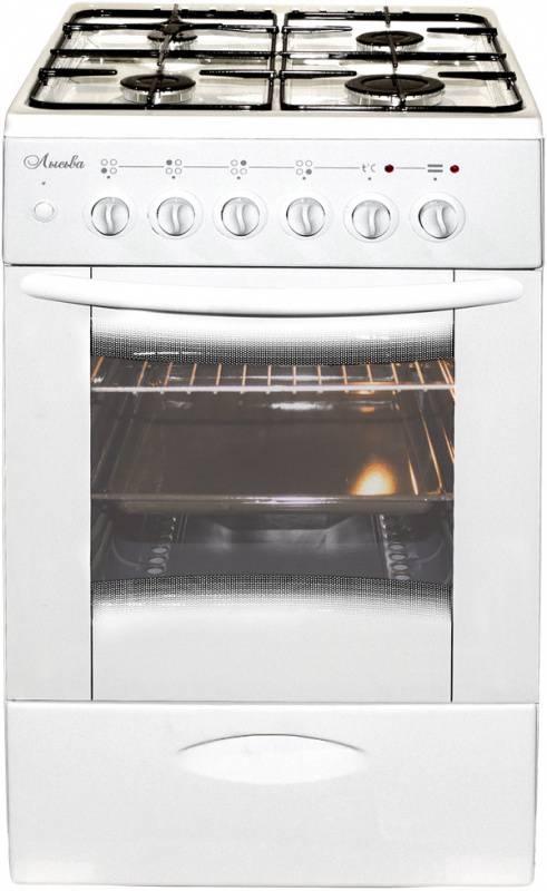 Плита комбинированная Лысьва ЭГ 404 МС-2у белый, без крышки - фото 1