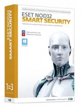 ПО Eset NOD32 Smart Security Family - лиц или прод на 20мес 3 устройства 1 год Box (NOD32-ESM-1220(BOX)-1-3)