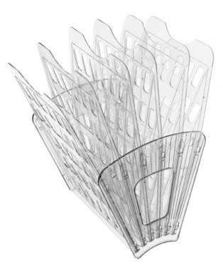 Лоток вертикальный Стамм Веер прозрачный (ЛТ97)