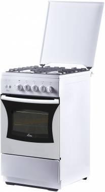 Плита газовая Flama FG 24227 W белый, металлическая крышка