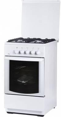 Плита газовая Flama FG 24022 W белый, стеклянная крышка
