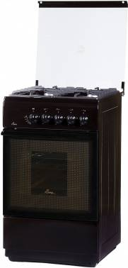 Плита газовая Flama FG 24022 B коричневый, стеклянная крышка
