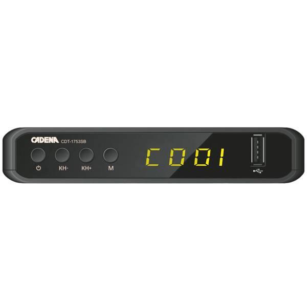 Ресивер DVB-T2 Cadena CDT-1753SB (046/91/00048272) - фото 1