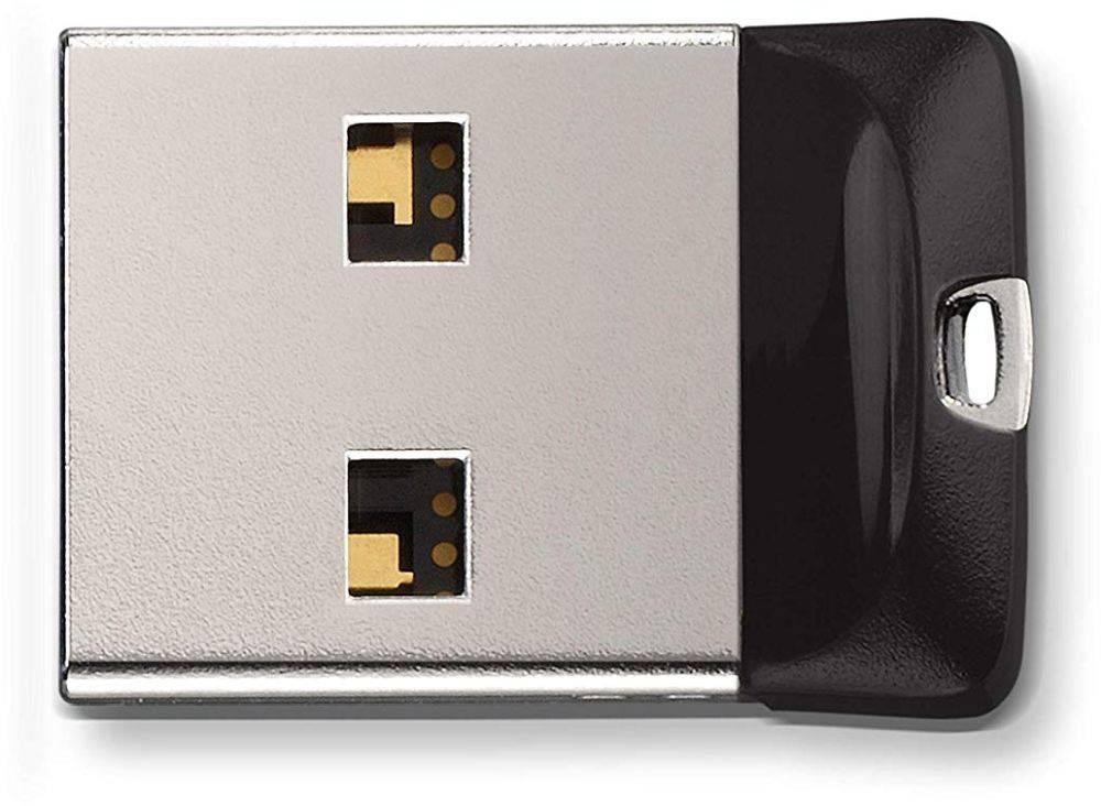 Флешка Sandisk Cruzer Fit 64ГБ USB2.0 черный (SDCZ33-064G-G35) - фото 2