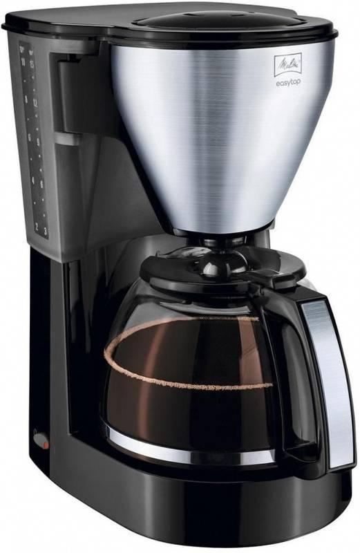 Кофеварка капельная Melitta EasyTop Steel черный/нержавеющая сталь (218738) - фото 1