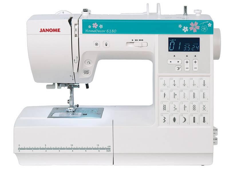 Швейная машина Janome HomeDecor 6180 белый - фото 1