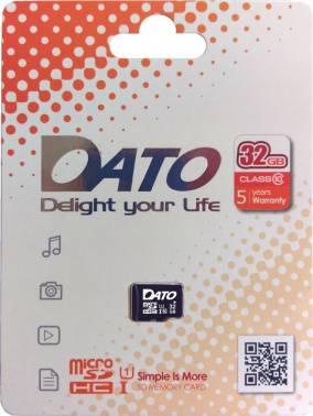 Карта памяти microSDHC 32Gb Class10 Dato (DTTF032GUIC10)