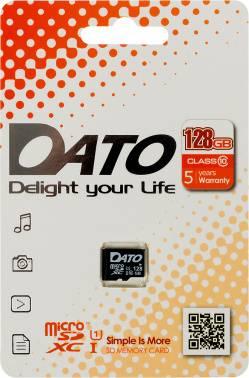 Карта памяти microSDXC 128Gb Class10 Dato (DTTF128GUIC10)