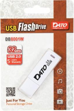 Флешка Dato DB8001 32ГБ USB2.0 белый (DB8001W-32G)