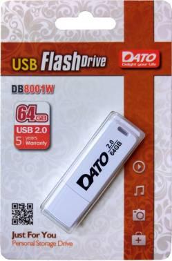 Флешка Dato DB8001 64ГБ USB2.0 белый (DB8001W-64G)