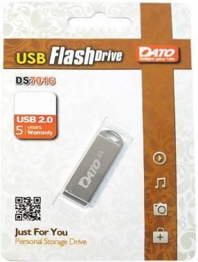 Флешка Dato DS7016 64ГБ USB2.0 серебристый (DS70016-64G)