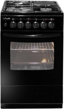 Плита комбинированная Лысьва ЭГ 1/3г01 М2С-2у черный, стеклянная крышка