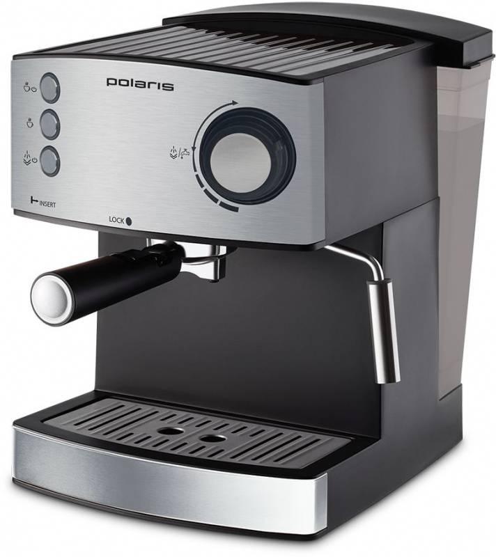 Кофеварка эспрессо Polaris PCM 1520AE Adore Crema нержавеющая сталь (PCM 1520AE) - фото 1