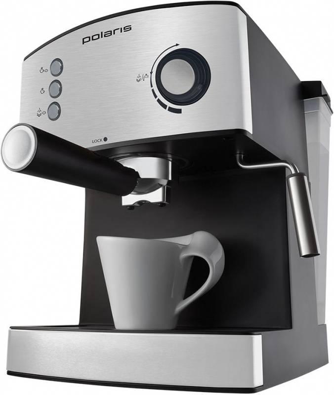 Кофеварка эспрессо Polaris PCM 1520AE Adore Crema нержавеющая сталь (PCM 1520AE) - фото 2