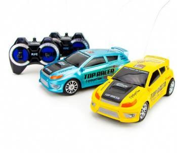 Машина радиоуправляемая Pilotage Top Racer №4 пластик желтый/голубой (RC47967)