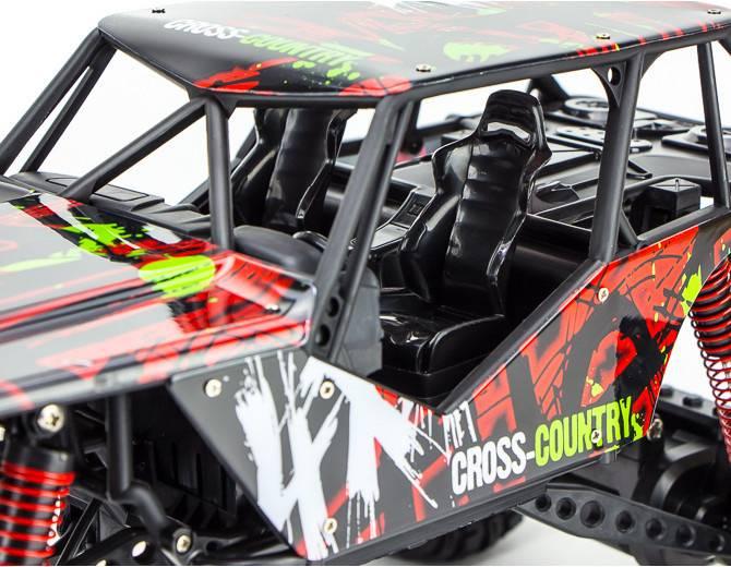 Машина радиоуправляемая Pilotage Crawler Cross-Country 1/10 пластик черный (RC61280) - фото 7