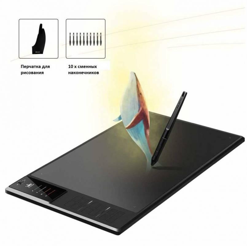 Графический планшет Huion WH1409 черный (WH1409 (WI-FI)) - фото 4