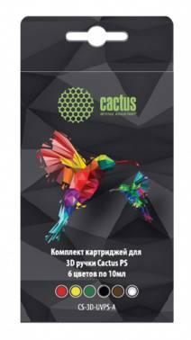 Пластик для ручки 3D Cactus CS-3D-UVPS-A УФ-полимер 6цв.