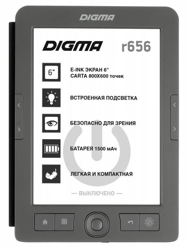 "Электронная книга 6"" Digma R656 Cover темно-серый - фото 1"
