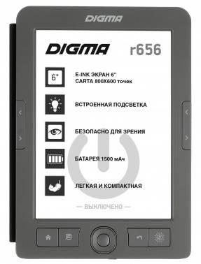 """Электронная книга 6"""" Digma R656 Cover темно-серый"""