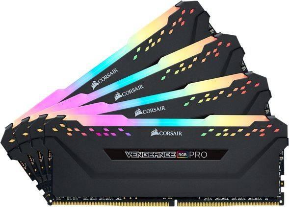 Модуль памяти DIMM DDR4 4x16Gb Corsair (CMW64GX4M4C3466C16) - фото 1
