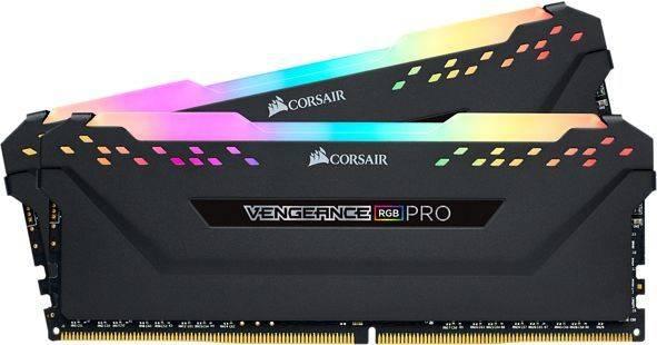 Модуль памяти DIMM DDR4 2x8Gb Corsair Vengeance RGB Pro (CMW16GX4M2C3200C16) - фото 1