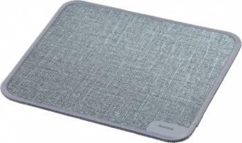 Коврик для мыши Hama Textile Design серый (00054798)