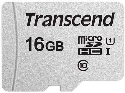 Карта памяти microSDHC 16Gb Class10 Transcend (TS16GUSD300S) - фото 1