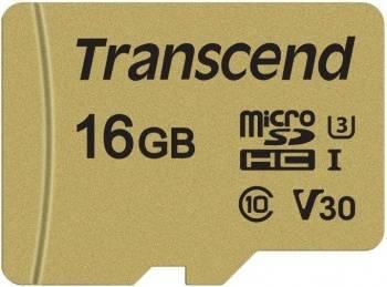 Карта памяти microSDHC 16Gb Class10 Transcend 500S (TS16GUSD500S)