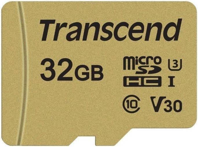Карта памяти microSDHC 32Gb Class10 Transcend 500S (TS32GUSD500S) - фото 1