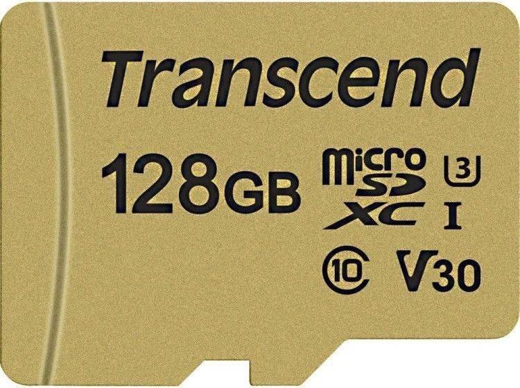 Карта памяти microSDXC 128Gb Class10 Transcend 500S (TS128GUSD500S) - фото 1