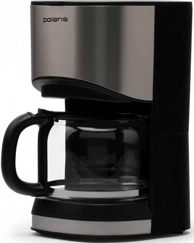 Кофеварка капельная Polaris PCM 1215A нержавеющая сталь/черный - фото 1