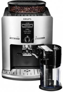 Кофемашина Krups EA829E10 серебристый/черный (8000035442)