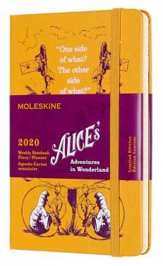 Еженедельник Moleskine Alice in Wonderland WKNT LE желтый (DAL12WN2Y20)