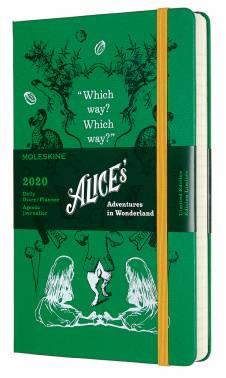 Ежедневник Moleskine Alice in Wonderland зеленый (DAL12DC3Y20)