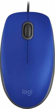 Мышь Logitech M110 Silent синий (910-005488)