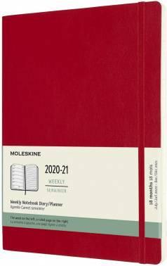 Еженедельник Moleskine Academic Soft WKNT красный (DSF218WN4)