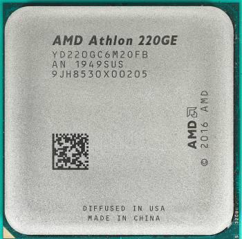 Процессор AMD Athlon 220GE SocketAM4 TRAY (YD220GC6M2OFB)