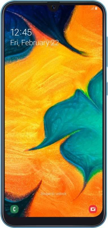 Смартфон Samsung Galaxy A30 SM-A305F 32ГБ синий (SM-A305FZBUSER) - фото 1