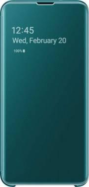 Чехол Samsung Clear View Cover, для Samsung Galaxy S10e, зеленый (EF-ZG970CGEGRU)