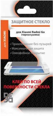 Защитное стекло DF xiColor-51 для Xiaomi Redmi Go (DF XICOLOR-51 (BLACK))