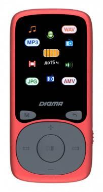 Плеер Digma B4 8ГБ красный (B4RD)
