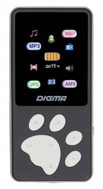 Плеер Digma S4 8ГБ черный/серый (S4BG)