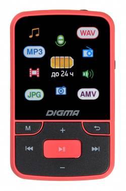 Плеер Digma T4 8ГБ черный/красный (T4BR)