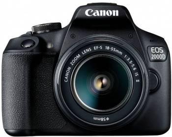 Фотоаппарат Canon EOS 2000D черный, 1 объектив (2728C002)