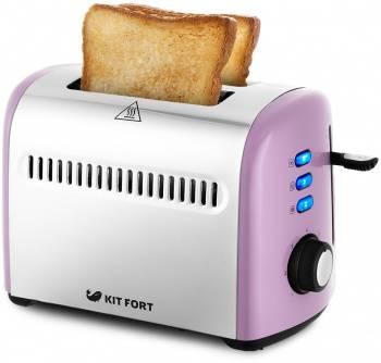 Тостер Kitfort КТ-2026-4 фиолетовый/серебристый