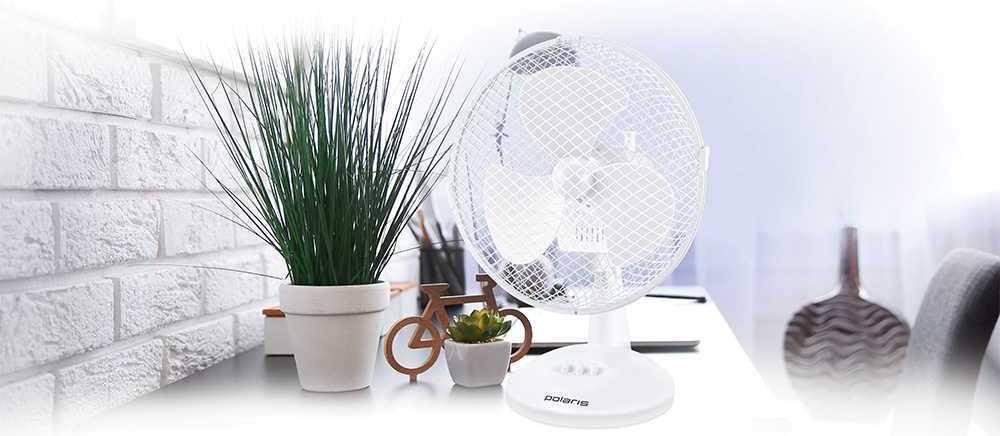 Вентилятор настольный Polaris PDF 1023G белый - фото 2