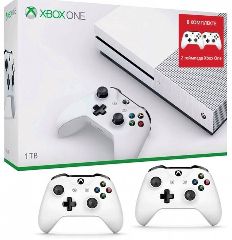 Игровая консоль Microsoft Xbox One S 234-00357-2g белый - фото 1